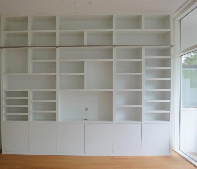 librerie bianche su misura roma