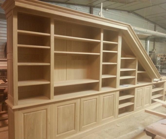 librerie in legno a misura roma