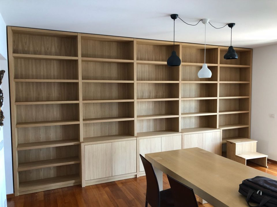 librerie su misura in rovere Roma