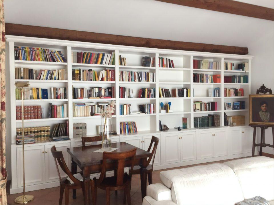 librerie su misura bianche roma